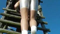 Сексуальная задница в белом спандексе, часть 1, HD 790, JustPorn TV