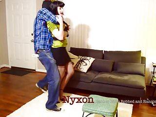 Boobs tied tight - Nyxon tied tight by robber