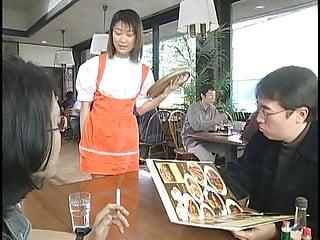 Swap cum compilation Two japanese waitresses blow dudes and swap cum