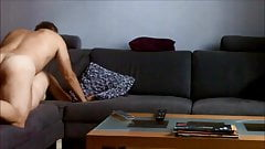 My wife fucked on the sofa on real hidden cam 1