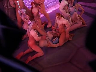 Elf girl hentai Blud elf orgy