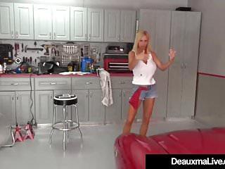 Mature sex videos no sign up - Mature cougar deauxma sexes up busty mechanic brooke tyler
