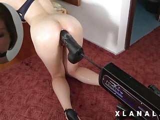 Video of girl fucking a dog Anal fucking machine...