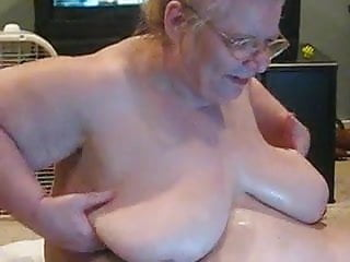 Rubbing oil on boobs - Come help me rub oil on me
