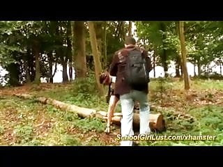 Freeiphonesex forest blowjob - Schoolgirls gets anal fucked in the forest