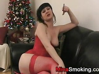 Cigarette holder fetish - Smoking fetish with slow inhaling cigarette smoke
