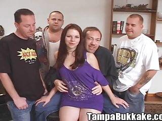 Tampa bukkake galleries Teen slut tampa bukkake gang bang