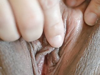 Close up clit thumbs Close up clit masturbation