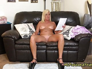 Hot milf flashes ha ha - Hot milf has loud orgasms then pisses on the floor