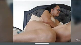 Latin Granny Martha fingering her pussy and big boobs