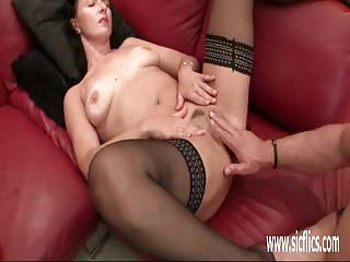 Dark cavern slut wife Fisting the wifes cavernous loose pussy