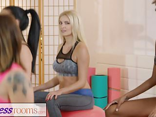 Wet lesbian ass - Fitness rooms gym milf and students have wet lesbian