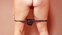 Horny mature strip