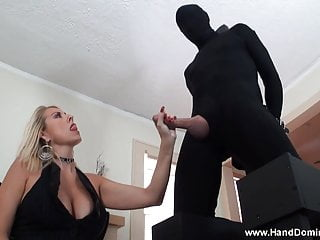 How to bound tits - Dominant milf dallas gives femdom handjob to bound cock