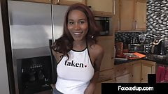 Young Black Step Daughter Jenna Fox Fucks Her Step Daddy!