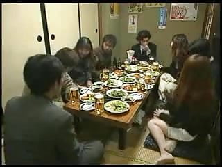 Men give hand job sluload Japanese woman gives a hand job during dinner