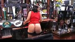 Danica in the bar