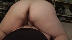 Bbw wife riding small cock hubby