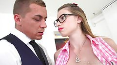 Tricky Old Teacher - Cutie gets education through sex with