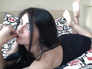 Wax bikini area video Happy dark-haired babe reveals her intimate areas
