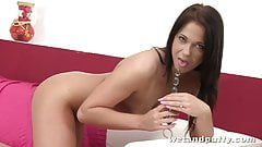 Brunette cutie Angela is ready for wet action