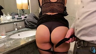 slut fucked after business dinner - business-bitch