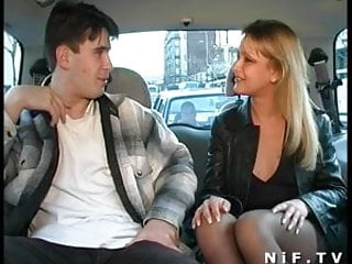 Beautiful french hardcore Beautiful french blonde blowing a cock in a car