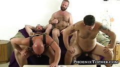 Gang of beefy hairy homosexuals barebacking mercilessly
