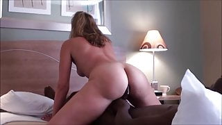 Multiple orgasms on her black boyfriend's dick