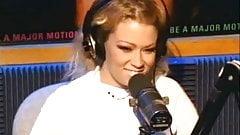 21 year old porn star Jenna Jameson strips for Howard Stern