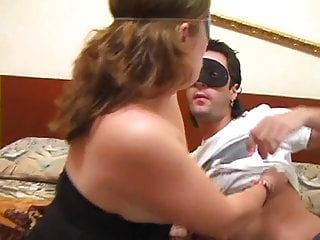 Pink facial mask - Cute thick girl in a mask gets her hairy pussy filled by a masked mans dick