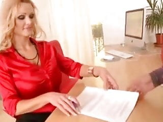 Busty secretary pictures Sharon pink busty secretary