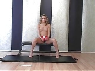 Gear blog sex - Blonde in workout gear gets naked