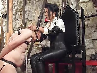 Boot in lady sexy Boot worship german leather lady