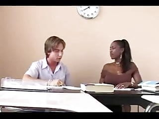 White teacher sex black Ebony teacher gives extra tuition to white student