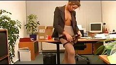 German Secretary Indulges Her Bosses Pantyhose Sex