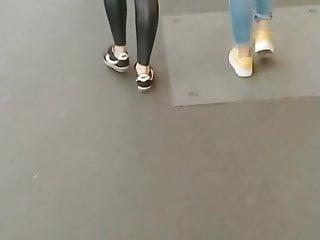 Girls in leather fetish Hungarian girl leather leggings