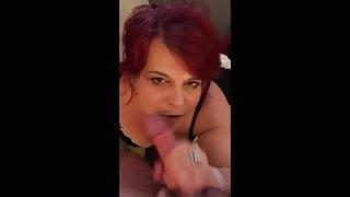 redhead granny sucking