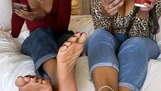 Delicious Ebony Duo Feet