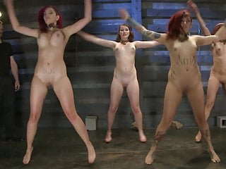 Slaves nude Caged Woman