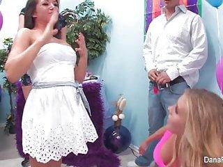 Wild crazy orgasm girl Samantha saint celebrates her birthday with a wild crazy org