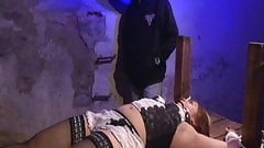 blonde curvy wife whore dominated by old fat guy