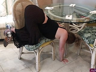 Erin shaved espn - Stepmom stuck under the table - erin electra