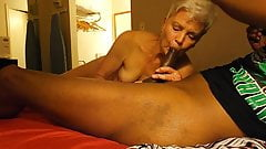 Nympho Granny loves younger Hung Black Man Cock Therapy