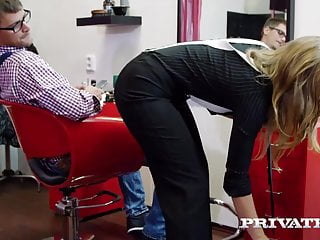 Hentai stuffed with bugs - Cutie teen hairdresser lady bug tries anal