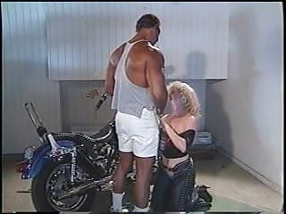 Motorcycle and sexy women gallery Sexy blonde sucks on a huge black dick and gets drilled by the motorcycle