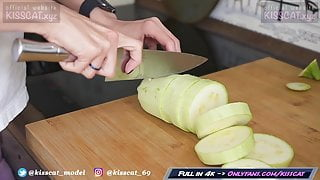 Best Hot Wife Fucks while Cooking with Creampie