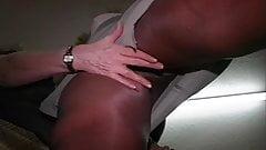 pantyhose girls show the sexy shine in silky nylon