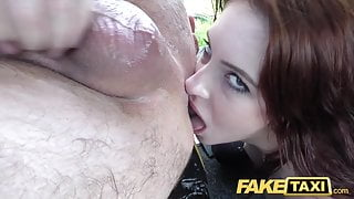 Fake Taxi Horny redhead anal sex video