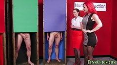 Kinky brits jerking perverts dick